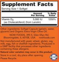 NOW FOODS Vitamin D3 5000 IU